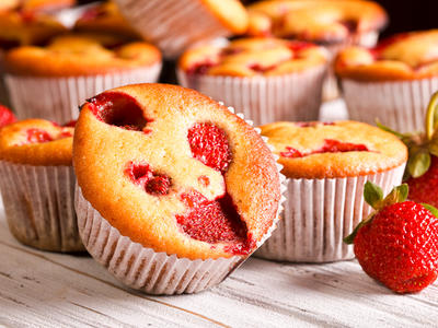 Strawberry Yoghurt Muffins