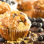 Applesauce-Blueberry Muffins