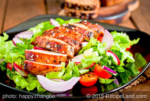 Grilled Szechuan Chicken Salad