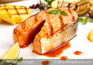 Grilled Whole Salmon Fillet