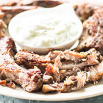 Fall off the bone tender Greek pork ribs
