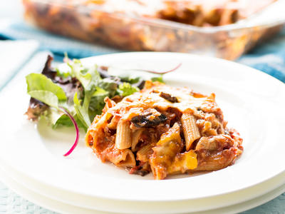 Baked Pasta with Mushrooms