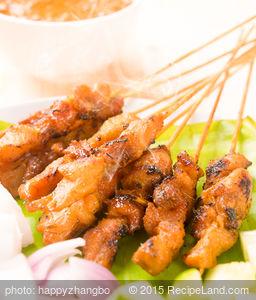 Teriyaki Blackened Chicken Satay