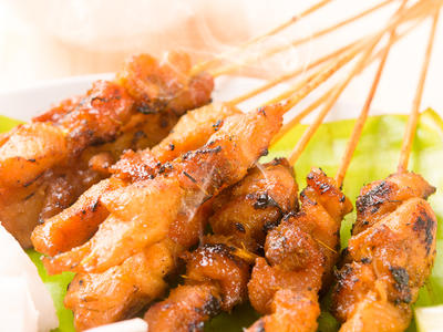 Teriyaki Blackened Chicken Satay