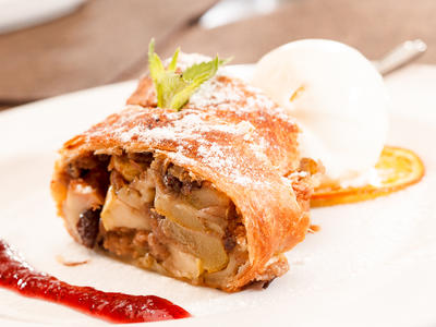 Apple Strawberry Strudel