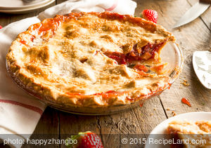 Favorite Glazed Strawberry-Rhubarb Pie