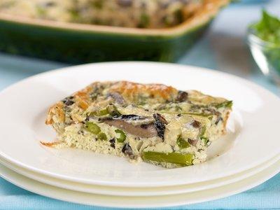 Baked Asparagus and Mushroom Omelet