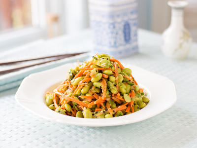 Edamame, Carrot, and Avocado Salad