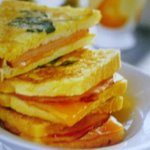 Fried Ham and Cheese Sandwiches