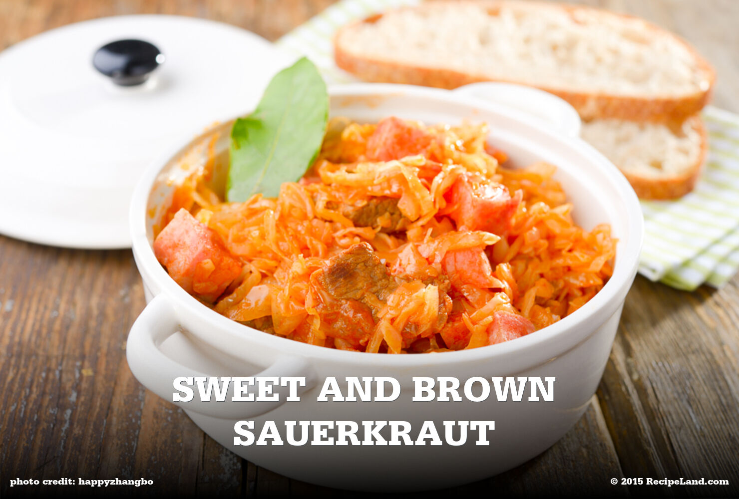 Sweet and Brown Sauerkraut