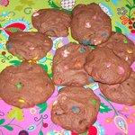 M&M Chocolate-Chocolate Cookies
