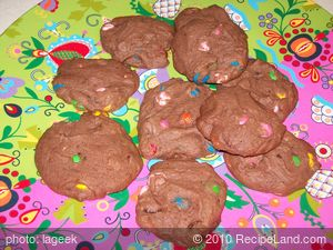 M&M Chocolate-Chocolate Cookies