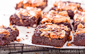 Peanut Butter Brownies with Peanut Butter Frosting