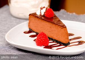 Chocolate Cheesecake with Chocolate Nutmeg Crust