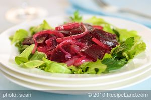 Beets and Onions Vinaigrette
