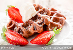 Chocolate Strawberry Waffles