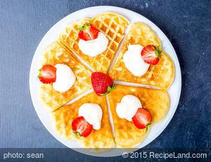 Norwegian Heart-Shaped Waffles