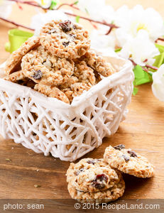 Chewy Oatmeal Trail Mix Cookies