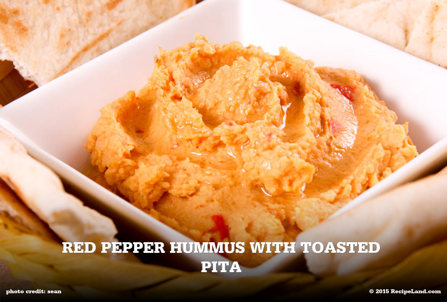 Red Pepper Hummus with Toasted Pita