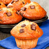 Almost Whole Wheat Chocolate Banana Muffins
