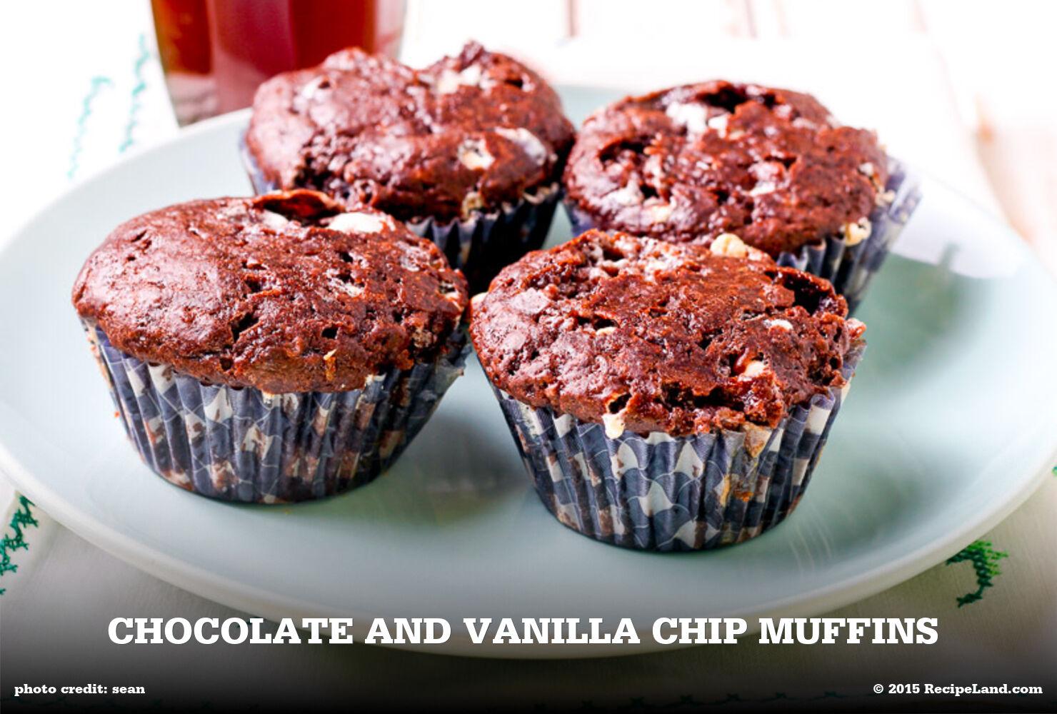 Chocolate and Vanilla Chip Muffins