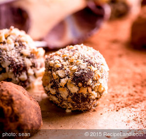 Chocolate Amaretto Truffles