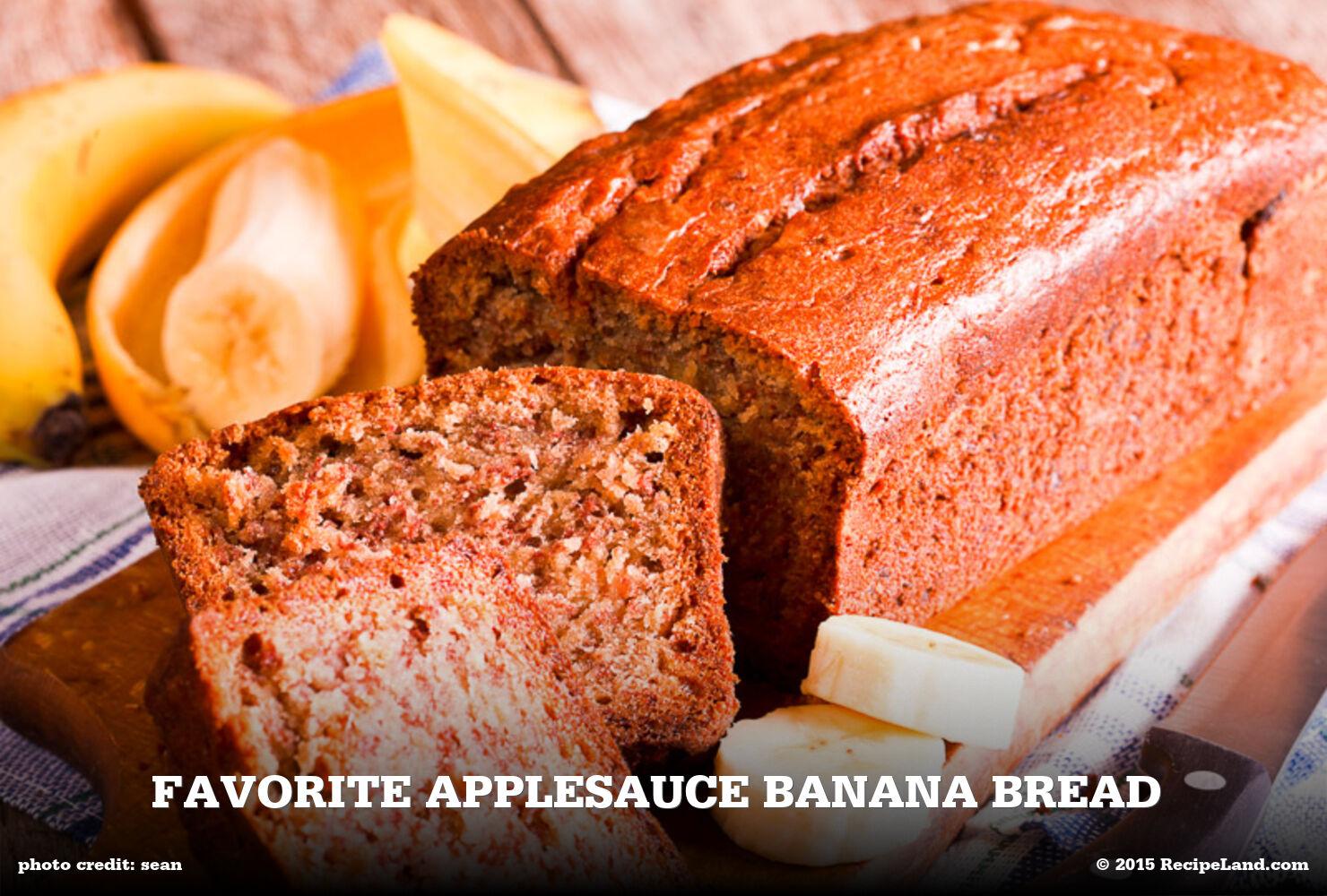 Favorite Applesauce Banana Bread