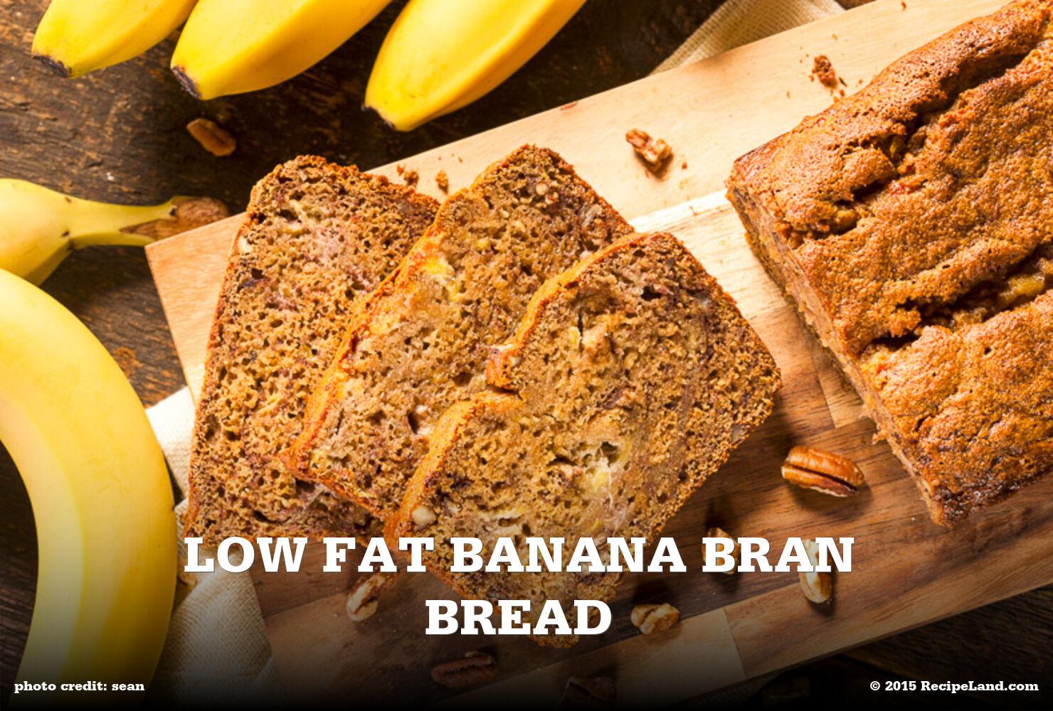 Low Fat Banana Bran Bread