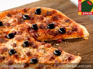 Chorizo and Black Olive Pizza