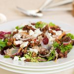 Honey Walnut, Goat Cheese Cranberry Salad