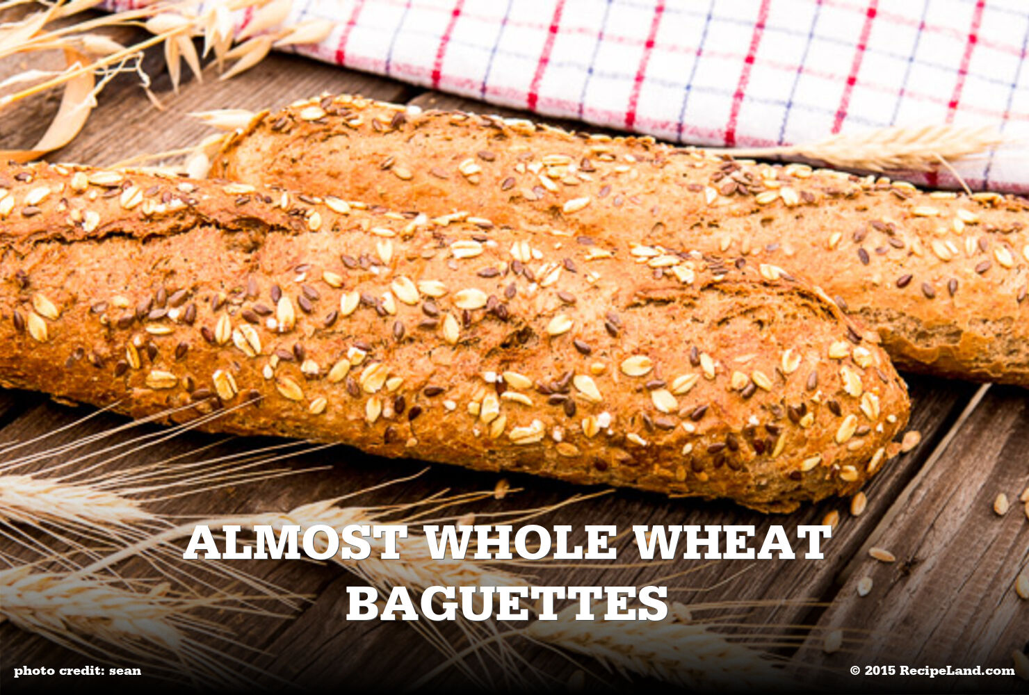 Almost Whole Wheat Baguettes