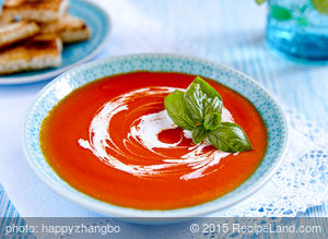 Garlicky Roasted Tomato, Onion and Country Bread Soup