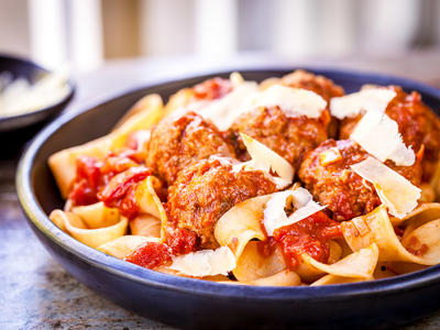 Italian Meatballs-Pasta Machine