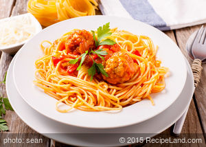 Spaghetti Sauce with Turkey Meatballs