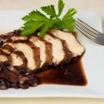 Blueberry Balsamic Chicken with Shallots