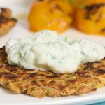 Zucchini Potato Latkes with Tzatziki