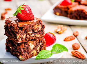 Moist Brownies with Walnuts