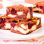 Cream Cheese Cherry Marbled Brownies