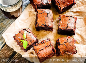 Super Easy Double-Fudge Brownies
