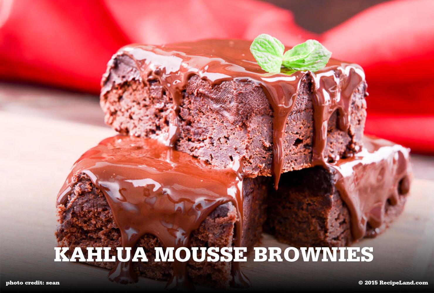 Kahlua Mousse Brownies