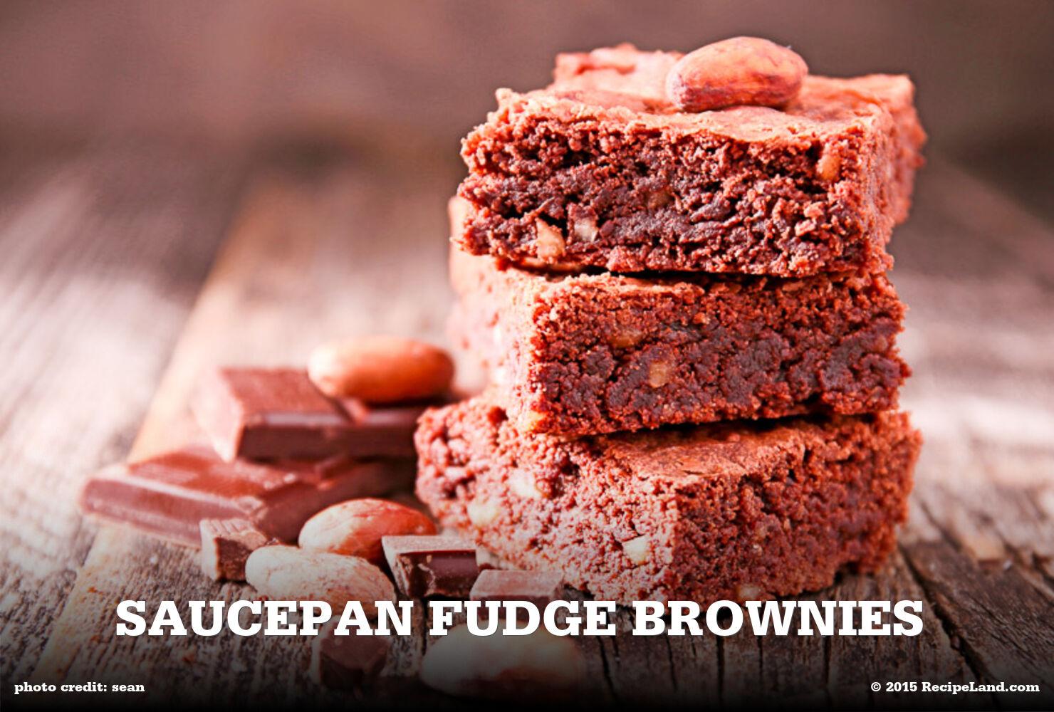 Saucepan Fudge Brownies