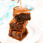 Triple-Chocolate Fudge Brownies