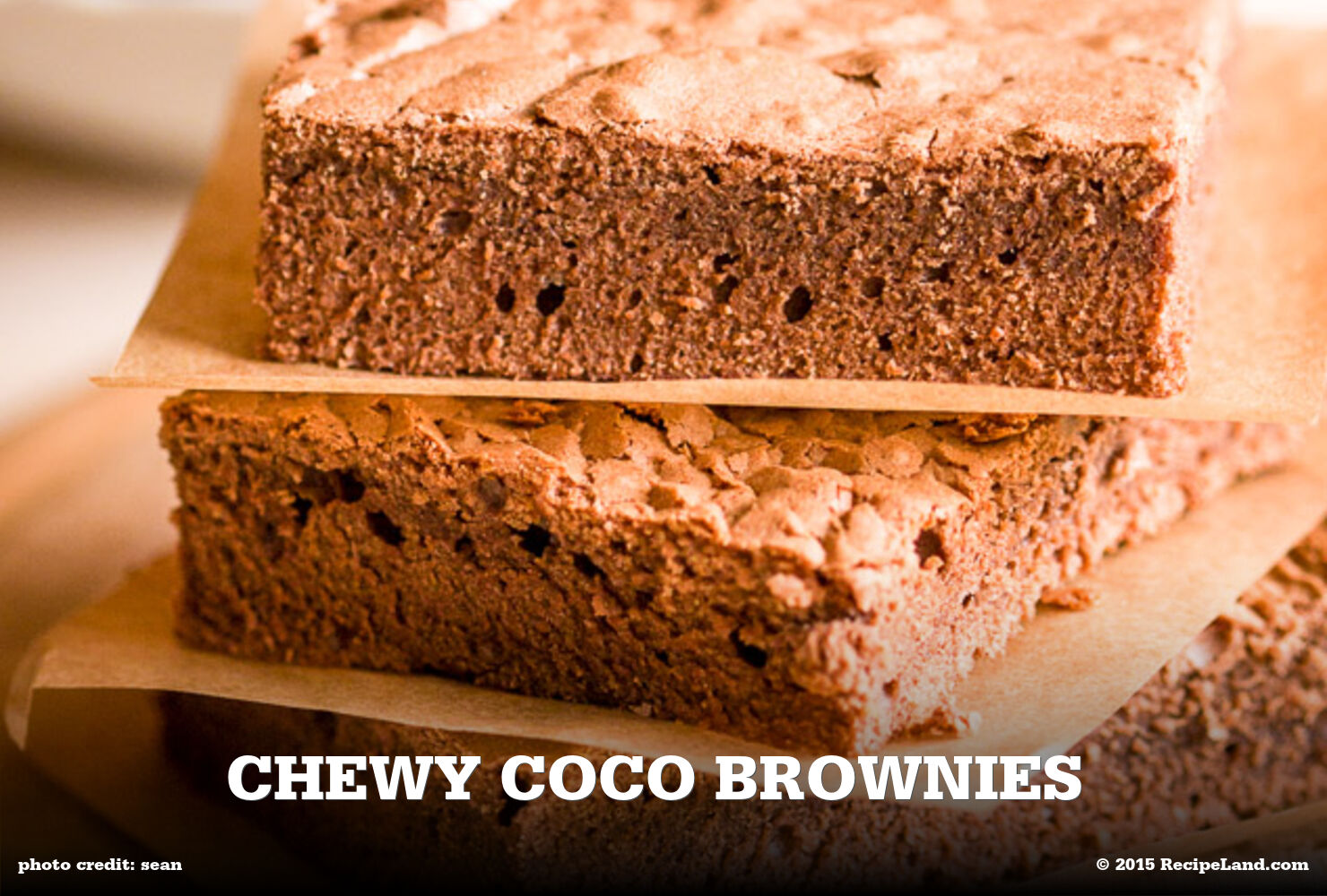 Chewy Coco brownies