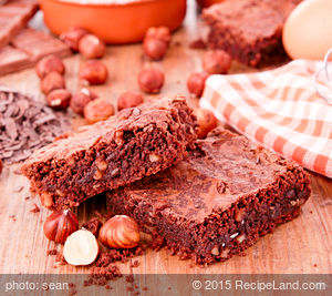 Double Chocolate Fudgey Brownies with Walnuts