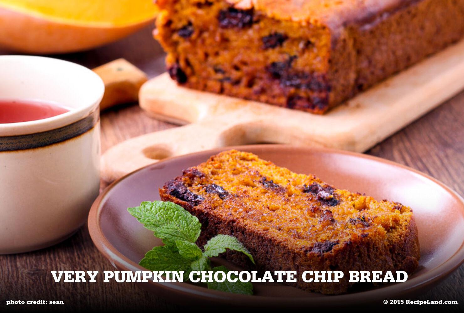 Very Pumpkin Chocolate Chip Bread