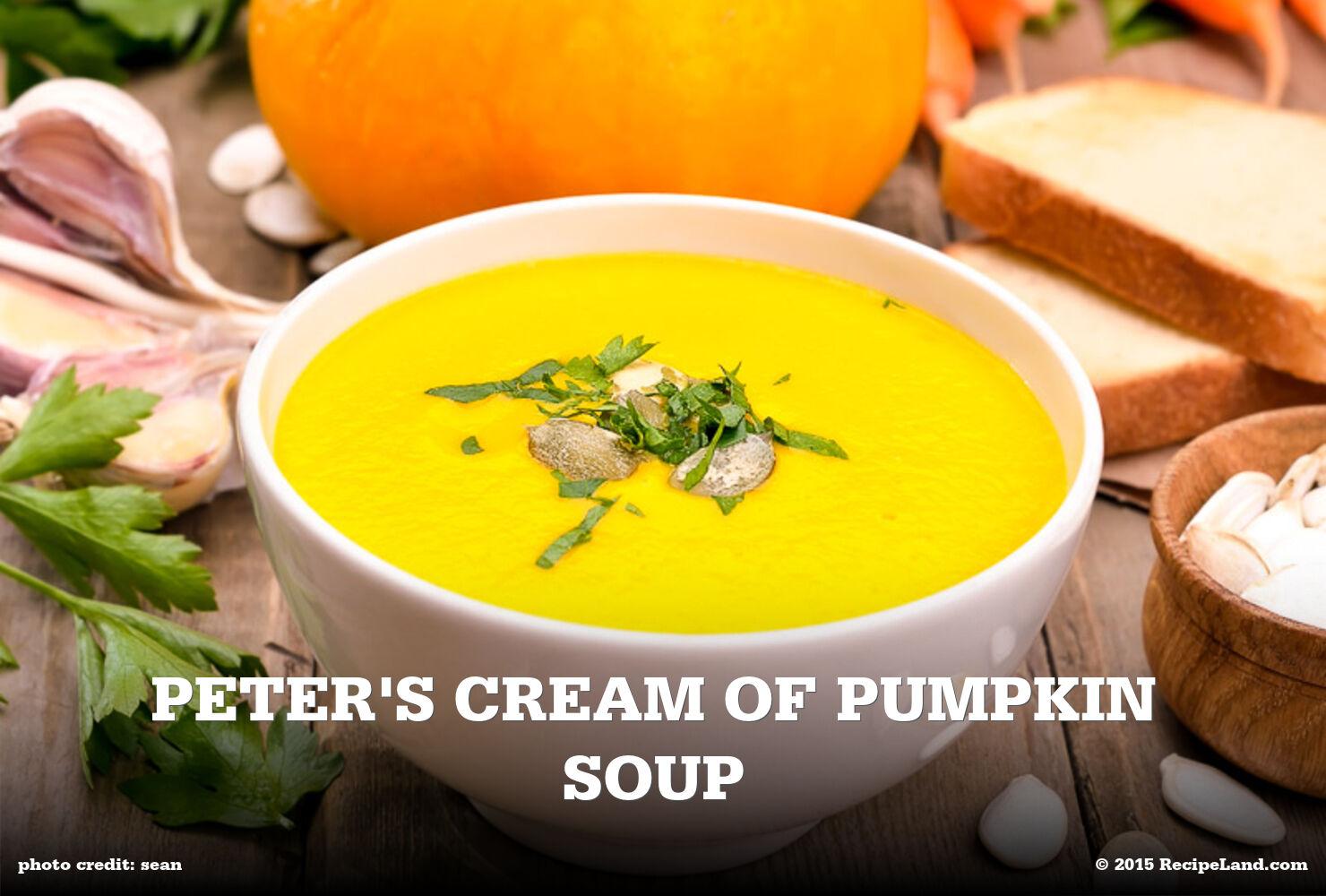 Peter's Cream of Pumpkin Soup