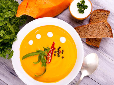 Pumpkin and Coconut Cream Soup