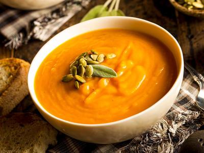 Martha's Pumpkin and White Bean Soup