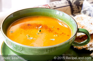 Quick Sweet and Tangy Squash Soup