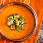 Apple, Cheddar and Winter Squash Soup